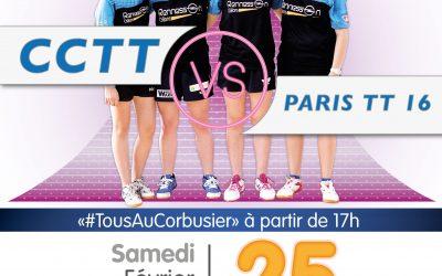 Nationale 2 : les filles du CCTT affrontent le Paris TT