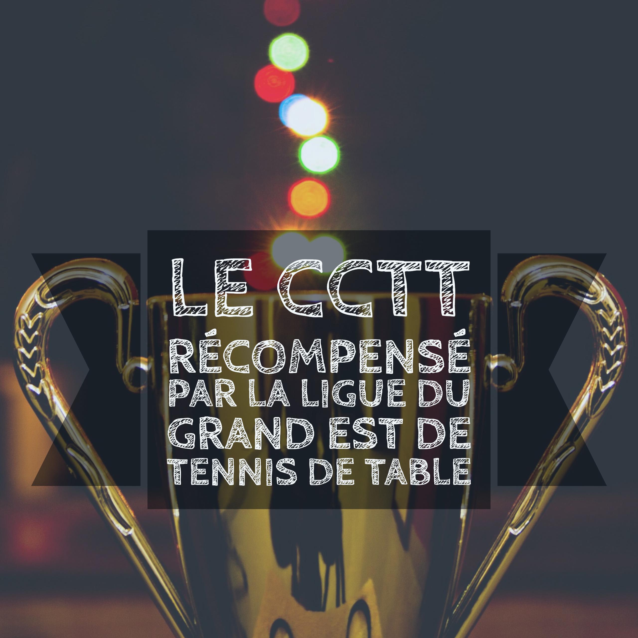 Le cctt r compens par la ligue du grand est de tennis de - Ligue aquitaine tennis de table ...