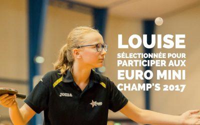 Louise sélectionnée pour les Euro Mini Champ's