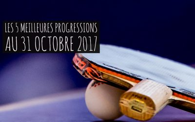 [Progression mensuelle] Meilleures progressions au 31 octobre 2017