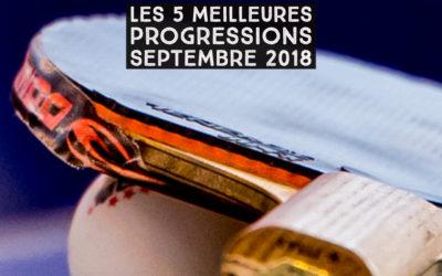 [Progression mensuelle] Meilleures progressions septembre 2018