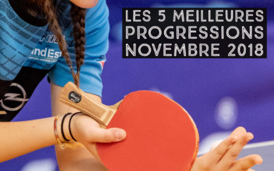[Progression mensuelle] Meilleures progressions novembre 2018
