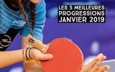 [Progression mensuelle] Meilleures progressions janvier  2019
