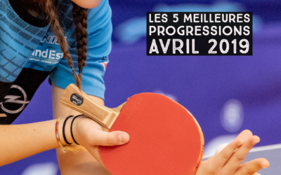[Progression mensuelle] Meilleures progressions avril 2019