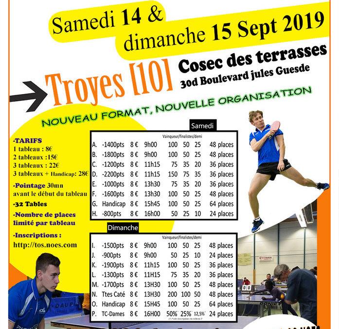 Tournoi du TOS-Noes 14 et 15/09/2019