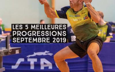 [Progression mensuelle] Meilleures progressions septembre 2019