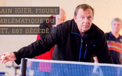 Alain IGIER, figure emblématique du CCTT, est décédé